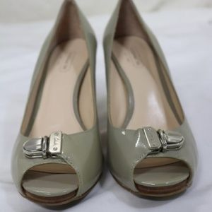 Coach Helaine Taupe Peep Toe Pumps